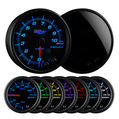 "Tinted 7 Color 3-3/4"" In-Dash Tachometer Gauge"