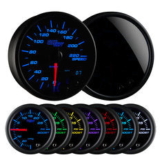 "Tinted 7 Color 3-3/4"" In-Dash Kilometer Speedometer Gauge"