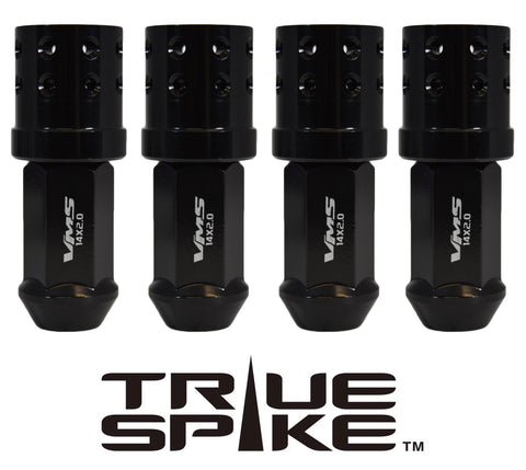 14X2.0 MM 81MM LONG MUZZLE BRAKE FORGED STEEL LUG NUTS WITH ANODIZED ALUMINUM CAP 04-14 FORD F150 RAPTOR TREMOR EXPEDITION // CAP: 25MM DIAMETER 30MM HEIGHT PART # LGC050