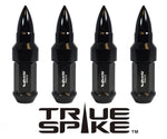 9/16-18 101MM LONG CNC FORGED STEEL EXTENDED BULLET SPIKE (25MM DIAMETER) LUG NUTS ANODIZED ALUMINUM CAPS TRUCK LENGTH 65-87 CHEVROLET (8 LUG) C20 C30 K20 K30 GMC 02-11 DODGE RAM 80-98 FORD F250 F350 // 25MM CAP DIAMETER 51MM CAP LENGTH PART # LGC023