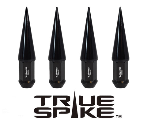 14X1.5 MM 124MM LONG CNC MACHINED FORGED STEEL EXTENDED SPIKE (25MM DIAMETER) LUG NUTS ANODIZED ALUMINUM CAPS TRUCK LENGTH 00- UP CHEVROLET SILVERADO TAHOE GMC SIERRA 12-UP DODGE RAM 15-UP F150 // 25MM CAP DIAMETER 73MM CAP LENGTH PART NUMBER LGC024