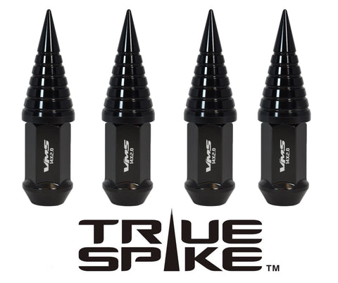 1/2-20 89MM LONG CNC MACHINED FORGED STEEL EXTENDED SPIRAL SPIKE (25MM DIAMETER) LUG NUTS ANODIZED ALUMINUM CAPS 46-17 JEEP CJ, TJ, WRANGLER 79-14 FORD MUSTANG // 25MM CAP DIAMETER 51MM CAP LENGTH PART # LGC022