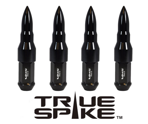 12X1.25 MM 112MM LONG CNC MACHINED FORGED STEEL EXTENDED BULLET SPIKE (25MM DIAMETER) LUG NUTS ANODIZED ALUMINUM CAPS // 25MM CAP DIAMETER 73MM CAP LENGTH PART # LGC027