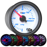 White 7 Color 15 PSI Boost/Vacuum Gauge