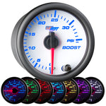 White 7 Color 35 PSI Boost Gauge