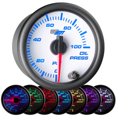 White 7 Color Oil Pressure Gauge