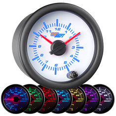 White 7 Color Clock Gauge