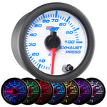 White 7 Color 100 PSI Exhaust Pressure Gauge