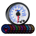 White Elite 10 Color 100 PSI Fuel Pressure Gauge