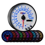 "White Elite 10 Color 3-3/4"" In-Dash Speedometer Gauge"