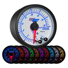White Elite 10 Color Nitrous Pressure Gauge