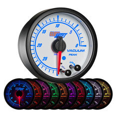 White Elite 10 Color Vacuum Gauge