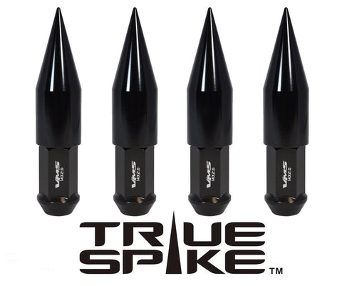 14x1.5 MM 124MM LONG EXTENDED 2ND DESIGN SPIKE (25MM DIAMETER) STEEL LUG NUTS ANODIZED ALUMINUM CAPS TRUCK LENGTH 00- UP CHEVROLET SILVERADO TAHOE GMC SIERRA 12-UP DODGE RAM 15-UP F150 // 25MM CAP DIAMETER 73MM CAP LENGTH PART NUMBER LGC025