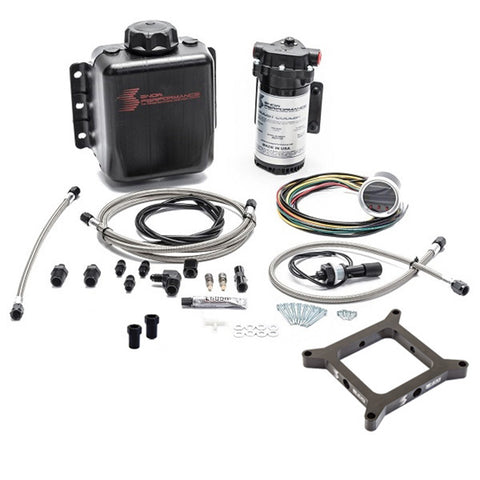 Stage 2 Boost Cooler, Carb 4150 Flange, Forced Induction Progressive Water-Methanol Injection Kit (Stainless Steel Braided Line, 4AN Fittings)