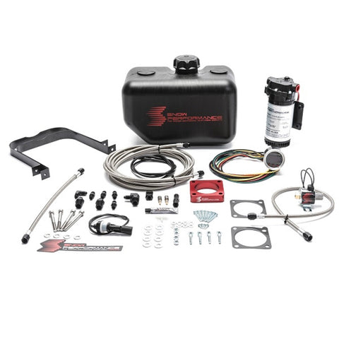 Stage 2 Boost Cooler 2008-2015 Mitsubishi EVO X 2.0L Water-Methanol Injection Kit (Stainless Steel Braided Line, 4AN Fittings)