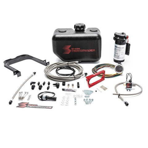Stage 2 Boost Cooler 2005-2010 Ford Mustang GT 4.6L Forced Induction Water-Methanol Injection Kit (Stainless Steel Braided Line, 4AN Fittings)