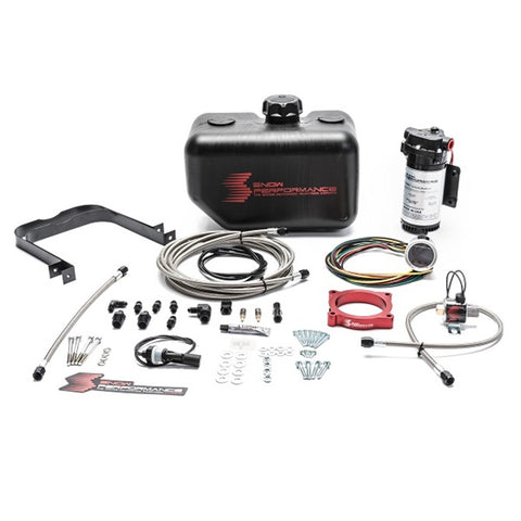 Stage 2 Boost Cooler 2011-2017 Ford Mustang GT 5.0L Forced Induction Water-Methanol Injection Kit (Stainless Steel Braided Line, 4AN Fittings)