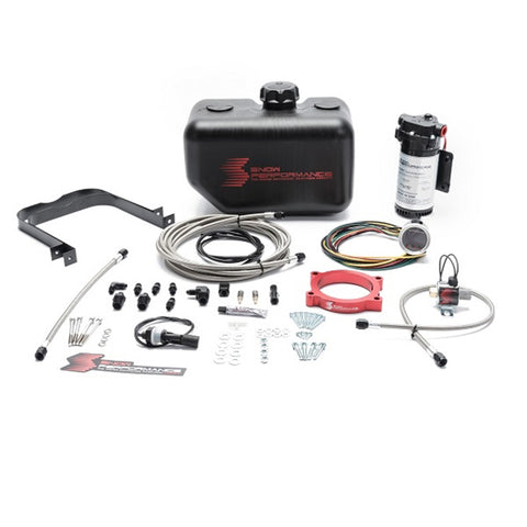 Stage 2 Boost Cooler GM LT1 (2014+ Corvette and 2016+ Camaro 6.2L) Forced Induction Water-Methanol Injection Kit (Stainless Braided Line, 4AN Fittings)