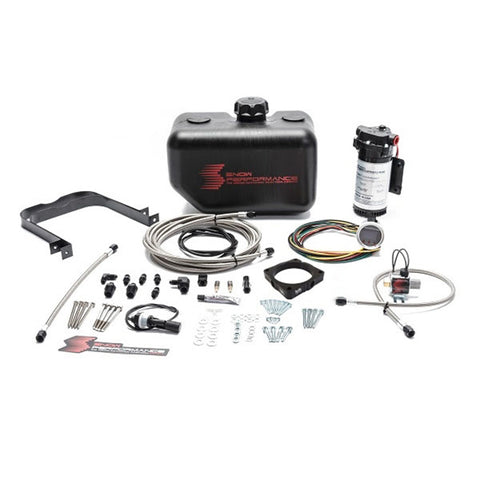 Stage 2 Boost Cooler 2008+ Dodge Challenger/Charger RT 5.7 / 6.1 / 6.4 Forced Induction Water-Methanol Injection Kit (Stainless Steel Braided Line, 4AN Fittings)