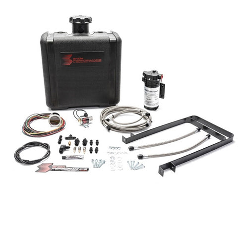 Diesel Stage 2 Boost Cooler Water-Methanol Injection Kit Ford 7.3/6.0/6.4/6.7 Powerstroke (Stainless Steel Braided Line, 4AN Fittings)