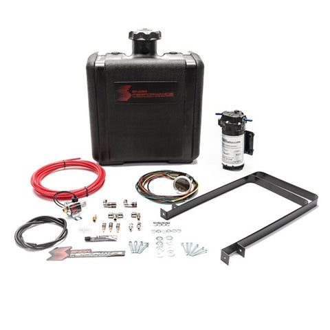 Diesel Stage 2 Boost Cooler Water-Methanol Injection Kit Ford 7.3/6.0/6.4/6.7 Powerstroke (Red High Temp Nylon Tubing, Quick-Connect Fittings)
