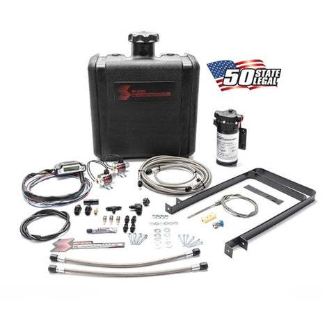 Diesel Stage 3 Boost Cooler Water-Methanol Injection Kit Universal (Stainless Steel Braided Line, 4AN Fittings)