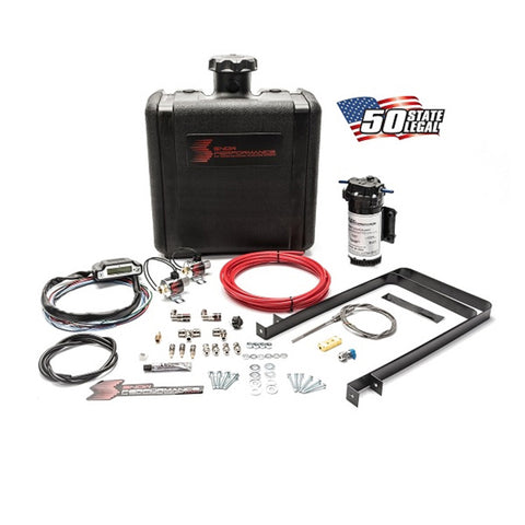 Diesel Stage 3 Boost Cooler Water-Methanol Injection Kit Universal (Red High Temp Nylon Tubing, Quick-Connect Fittings)