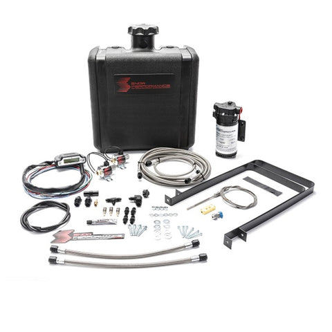 Diesel Stage 3 Boost Cooler Water-Methanol Injection Kit Ford 7.3/6.0/6.4/6.7 Powerstroke (Stainless Steel Braided Line, 4AN Fittings)
