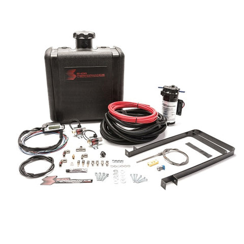Diesel Stage 3 Boost Cooler Water-Methanol Injection Kit RV Pusher (Red High Temp Nylon Tubing, Quick-Connect Fittings)