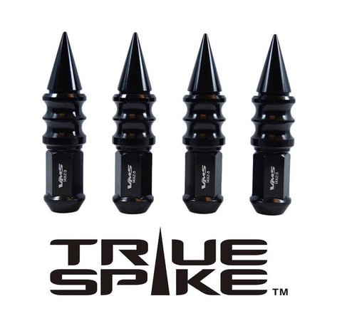 1/2-20 112MM LONG CNC MACHINED FORGED STEEL EXTENDED RIBBED SPIKE LUG NUTS ANODIZED ALUMINUM CAPS // 25MM CAP DIAMETER 73MM CAP LENGTH PART NUMBER LGC029