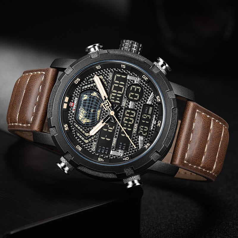 Mens Watches To Luxury Brand Men Leather Sports - Babseys