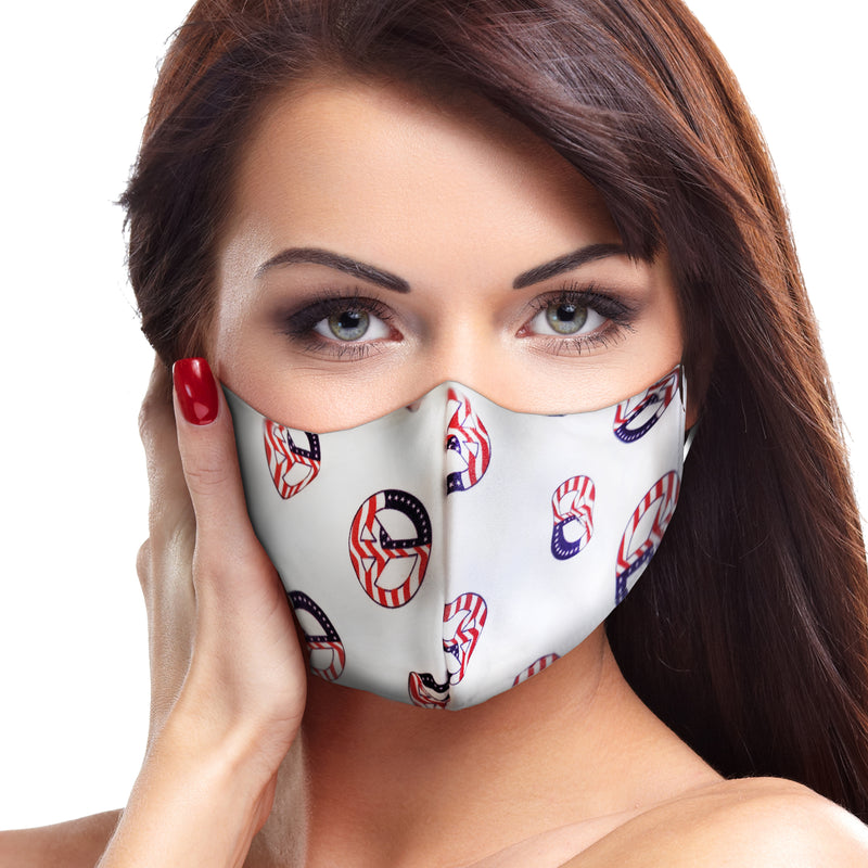 USA Peace Sign Circle Face Mask - Babseys