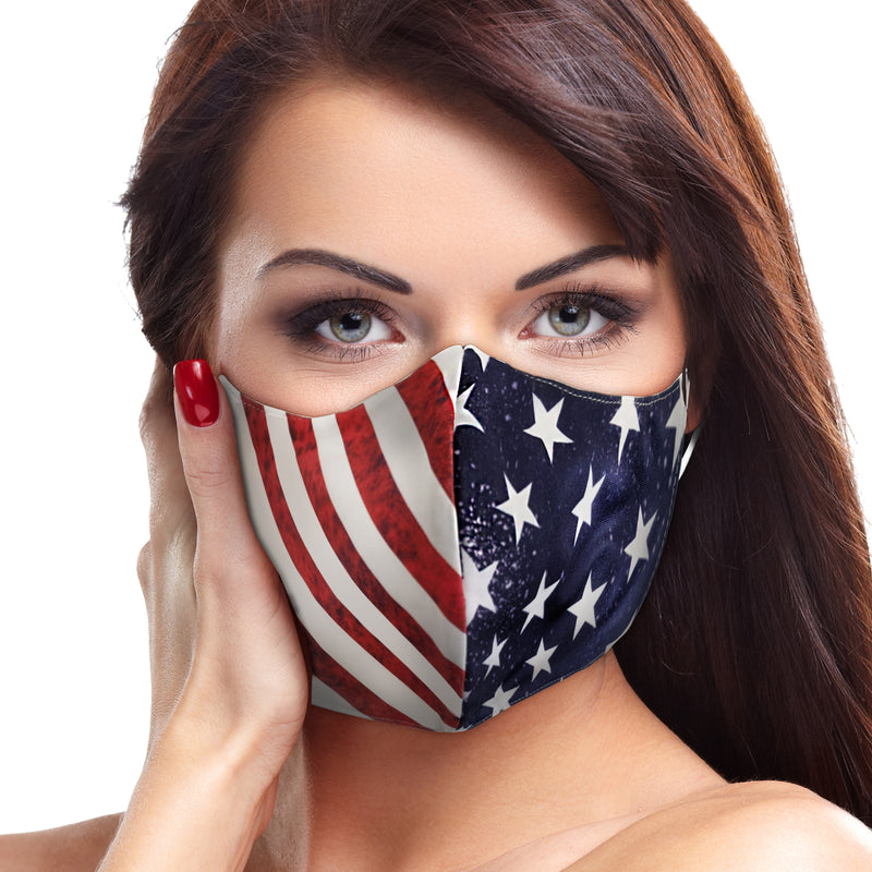 American Flag Face Mask - Babseys