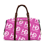 HEED NYC Classic Hot Pink & White All Over Logo Traveler Bag - HEED NYC