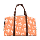 HEED NYC Classic Coral & White All Over Logo Travelers Bag - HEED NYC