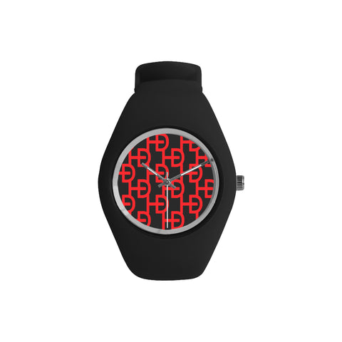 HEED NYC YAYA Black & Small Red Logo Candy Silicone Watch - HEED NYC