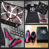 HEED NYC Classic Pink & Black Sneaker - HEED NYC
