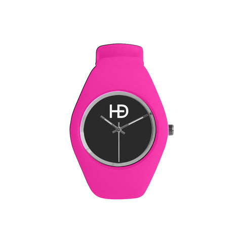 HEED NYC Classic Pink on Black Candy Silicone Watch - HEED NYC