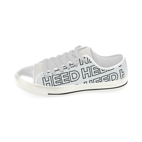 HEED NYC White Large OTL Logo Classic Canvas Sneaker - HEED NYC