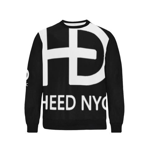 HEED NYC Black Sweatshirt with White Super Logo - HEED NYC