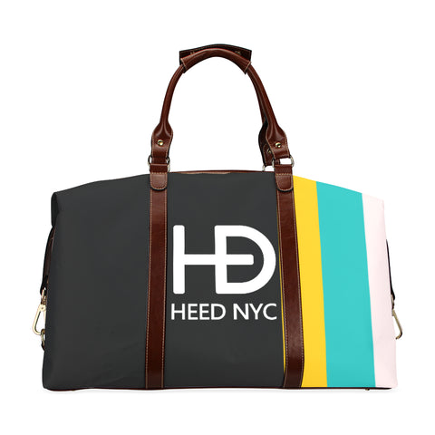 HEED NYC Classic Black F20 Stripe Traveler Bag