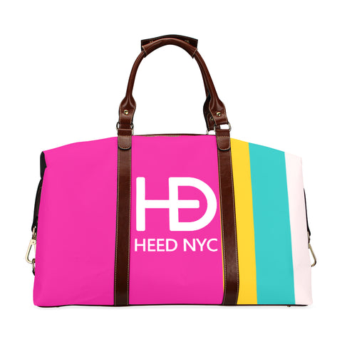HEED NYC Classic Hot Pink F20 Stripe Traveler Bag