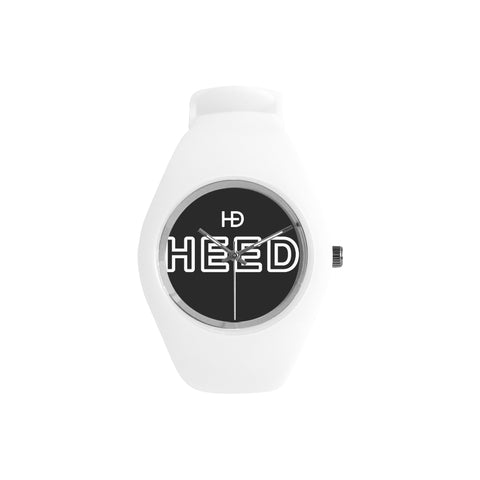 HEED NYC OTL White on Black Candy Silicone Watch - HEED NYC