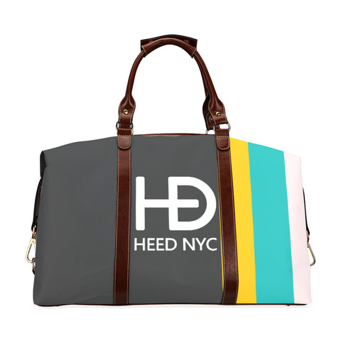 HEED NYC Classic Dark Gray F20 Stripe Traveler Bag