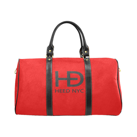 HEED NYC Classic Blood Orange & Black Duffle Bag - HEED NYC