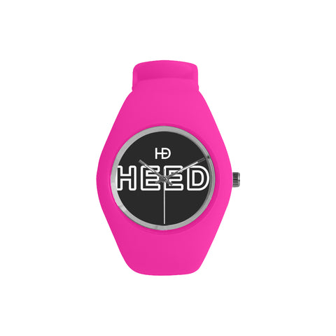 HEED NYC OTL Pink & Black Candy Silicone Watch - HEED NYC