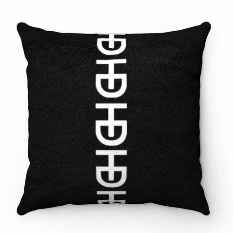HEED Dècore Classic Black & White Vertical Logo Throw Pillow - HEED NYC