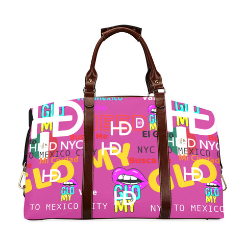 HEED NYC GLOMY NY2MX Hot Pink Traveler Duffle Bag Classic Travel Bag (Model 1643) Remake - HEED NYC