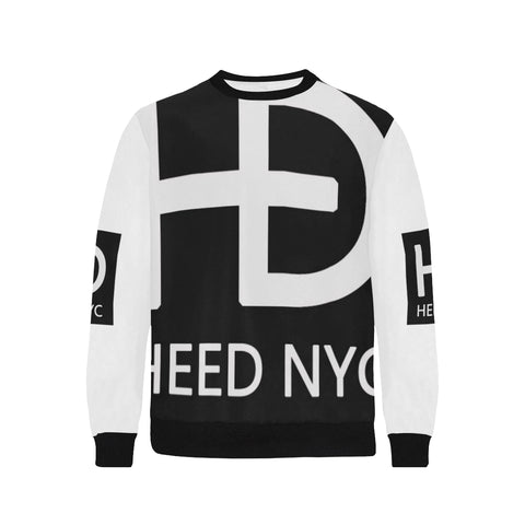 HEED NYC Classic White & Black Super Logo Sweatshirt - HEED NYC