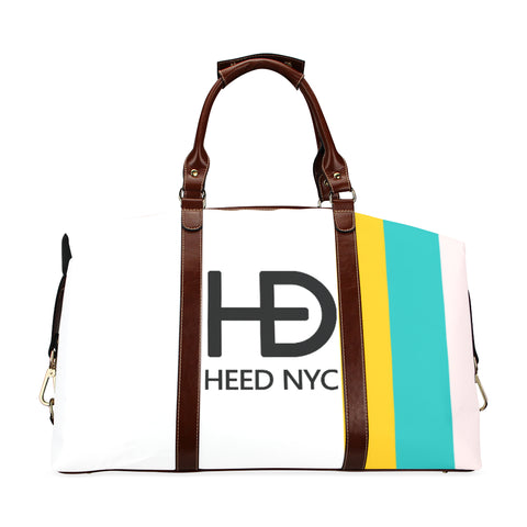 HEED NYC Classic White F20 Stripe Traveler Bag